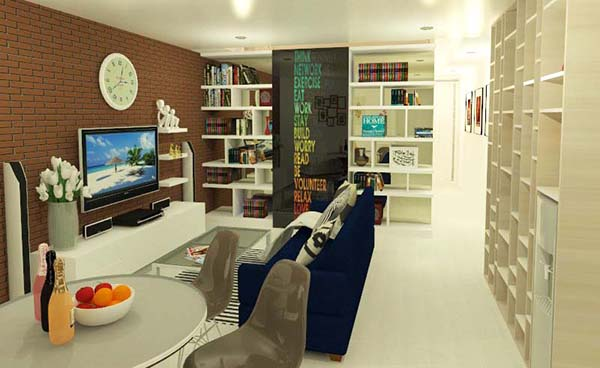 Ruang Tamu & Keluarga jasa desain interior brawijaya Apartemen